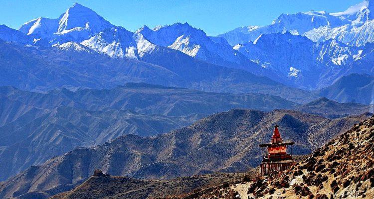 Annapurna landscape, Mustang. Nepal.