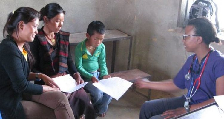 school in Barpak