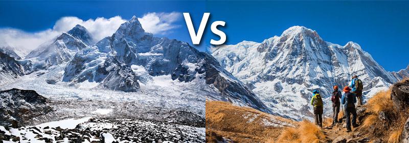 Everest Vs Annapurna Trekking