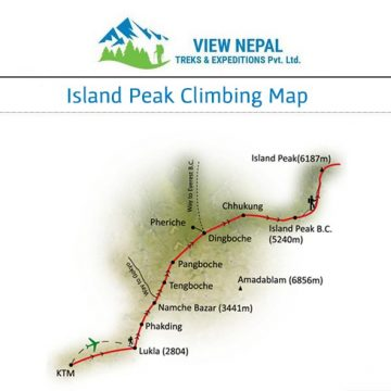 Map of Island Peak Climbing