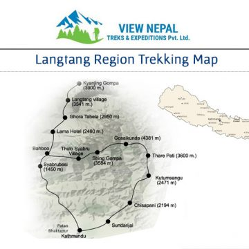 Map of Langtang Gosainkunda Trek