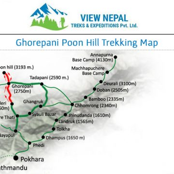 Map of Ghorepani Poon Hill Trek
